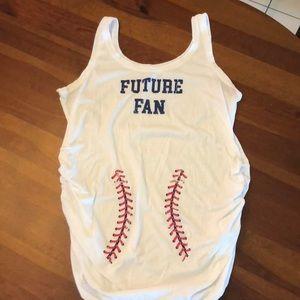 "Motherhood maternity ""future fan"" shirt"